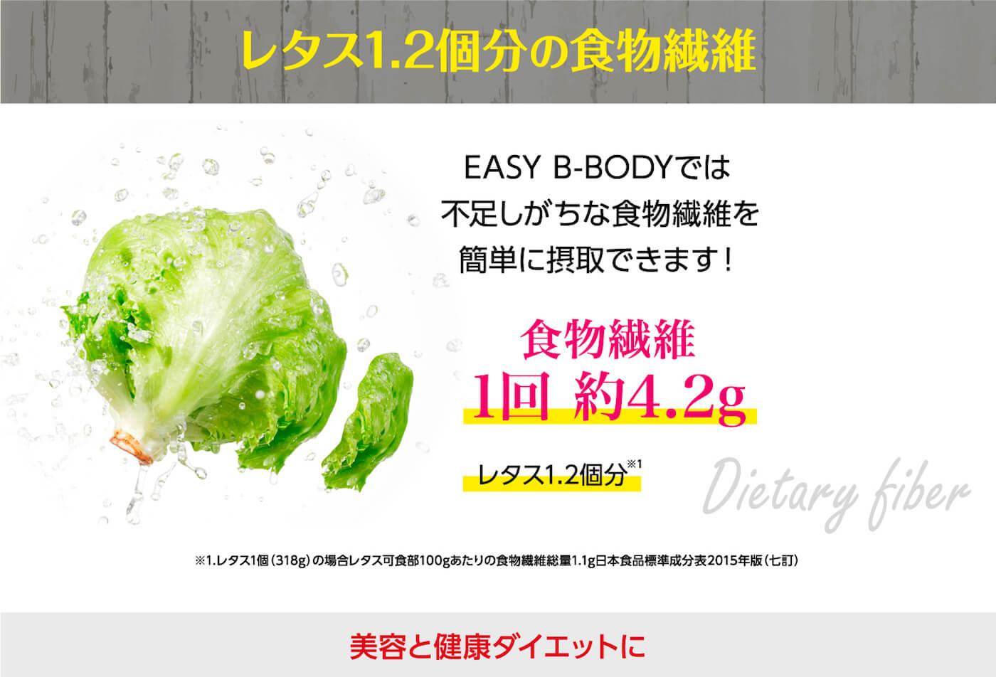 レタス1.2個分の食物繊維
